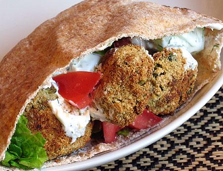 Baked Falafel Sandwiches
